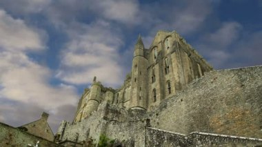 Mont Saint-Michel, Normandy, France--one of the most visited tourist sites in France. — Stock Video