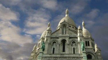 大教堂的神圣的心灵,巴黎,法国 — 图库视频影像