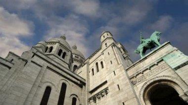 Basilikan på sacred heart, paris, Frankrike — Stockvideo