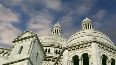 Basílica del sagrado corazón, parís, francia — Vídeo de stock