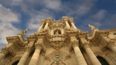 CATHEDRAL OF SYRACUSE (Siracusa, Sarausa)-- historic city in Sicily, Italy — Stock Video