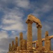 Ancient Greek Temple of Juno (V-VI century BC), Valley of the Temples, Agrigento, Sicily. — Stock Video #62045531