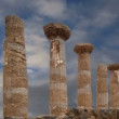 Remains of an ancient Greek temple of Heracles (V-VI century BC), Valley of the Temples, Agrigento, Sicily. — Stock Video #62054807