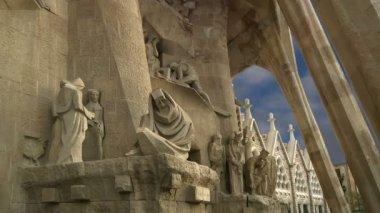 Sagrada Familia by Antoni Gaudi in Barcelona Spain — Stock Video