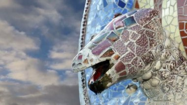 Gaudi Parc Guell in Barcelona, Spain — Stock video