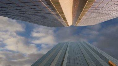 Nowoczesne wieżowce, sheikh zayed road, dubai, zjednoczone emiraty arabskie. dubai jest najszybciej rozwijającym miastem na świecie — Wideo stockowe