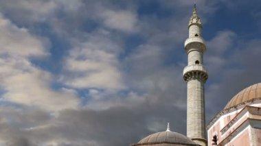 Mosquée dans la vieille ville, Rhodes, Grèce (time-lapse) — Vidéo