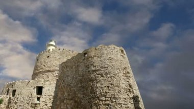 Rhodes Tower of St. Nicholas, Greece  (time lapse) — Stock Video