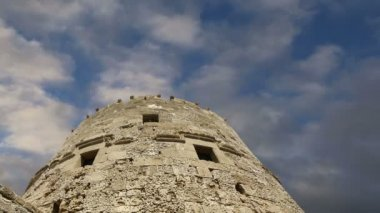 Rhodes Tower of St. Nicholas, Greece  (time lapse) — Stockvideo