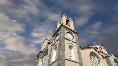 Chiesa ortodossa di san panteleimon, rodi, grecia — Video Stock