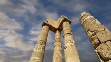 Apollo-Tempel auf der Akropolis von Rhodos, Griechenland — Stockvideo