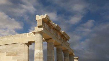 Apollo Temple at the Acropolis of Rhodes, Greece — Stock Video