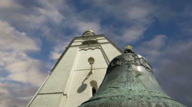 Tsar Bell, Moscow Kremlin, Russia -- also known as the Tsarsky Kolokol, Tsar Kolokol III, or Royal Bell — Stock Video