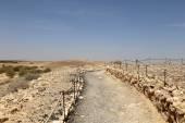 Deserto de pedra no centro de Jordan, Médio Oriente — Fotografia Stock