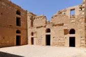 Qasr Kharana (Kharanah or Harrana), the desert castle in eastern Jordan (100 km of Amman). Built in 8th century AD to be used as caravanserai, a resting place for traders — Stock Photo
