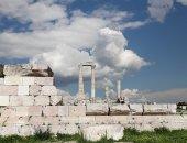 Tempel av hercules, romerska korintiska kolonner på citadel hill, amman, Jordanien — Stockfoto
