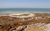 Dead sea coast at Jordan, Middle East — Stockfoto