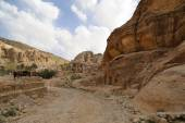 Petra, Jordan-- it is a symbol of Jordan, as well as Jordan's most-visited tourist attraction. Petra has been a UNESCO World Heritage Site since 1985 — Stock Photo
