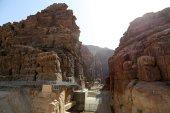 Rocks Wadi Mujib -- national park located in area of Dead sea, Jordan — Stock Photo