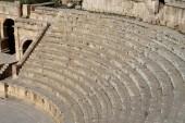 Anfiteatro di jerash (gerasa dell'antichità), capitale e città più grande del governatorato di jerash, jordan — Foto Stock
