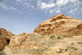 Mountains of Petra, Jordan, Middle East. Petra has been a UNESCO World Heritage Site since 1985 — 图库照片