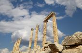 Roman ruins in the Jordanian city of Jerash (Gerasa of Antiquity), capital and largest city of Jerash Governorate, Jordan — Stock Photo
