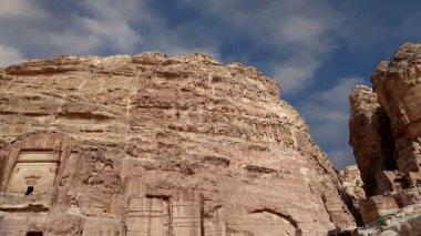 Petra, Jordan, Middle East -- it is a symbol of Jordan — Stock Video