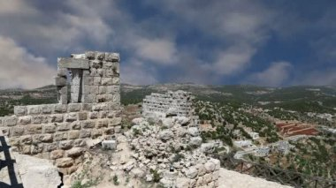 The ayyubid castle of Ajloun in northern Jordan, built in the 12th century, Middle East — Stock Video