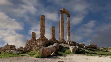 Amman city landmarks-- old roman Citadel Hill, Jordan — Stock Video