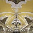 Metro station Komsomolskaya in Moscow, Russia. Metro station Komsomolskaya is a monument of the Soviet era — Stock Photo #76857299