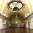 Metro station Komsomolskaya in Moscow, Russia. Metro station Komsomolskaya is a monument of the Soviet era — Stock Photo #76859295