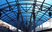 Stazione ferroviaria di Yaroslavsky, Mosca, Russia-- è uno dei nove stazioni ferroviarie principali di Mosca, situato sulla Piazza Komsomolskaya. Ha il più alto rendimento del passeggero di tutte e nove le stazioni di Mosca — Foto Stock