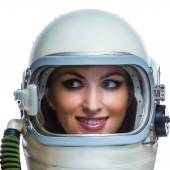 Beauty astronaut — Stock Photo