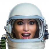 Bizarre astronaut — Stock Photo