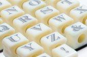 Alphabet stamps — Stock Photo