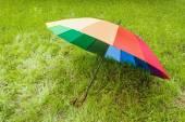 Colorful umbrella outdoors — Stock Photo