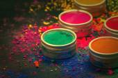 Colorful Indian dyes — Stock Photo