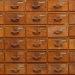 Drawers with blank tags — Stock Photo #65232875