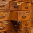 Drawers with blank tags — Stock Photo #65232917