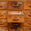 Drawers with blank tags — Stock Photo #65232963