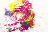 Indian dyes colorful background — Stock Photo
