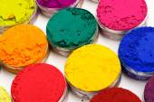 Colorful dyes on white — Foto Stock