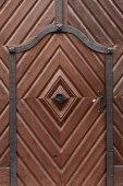 复古木质门 — 图库照片