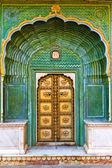 Porte du Palais de ville de Jaipur — Photo