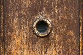 Spy hole on door — Stock Photo