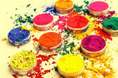 Colorful bright dyes — Stock fotografie