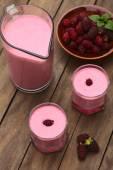 Blackberry Milkshake — Stock Photo
