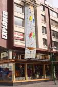 Explorer buiten winkel op plaza foch in quito, ecuador — Stockfoto