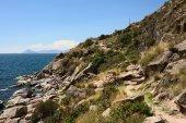 Rocky Coastline at Lake Titicaca at Copacabana, Bolivia — Stock Photo