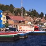 Постер, плакат: Ferry on Lake Titicaca at Tiquina Bolivia